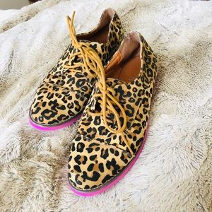 Cheetah Print Pink Bottom Slip-On Loafers